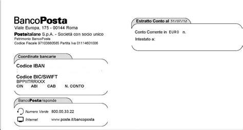iban banche italiane dove trovo il codice bic bancoposta