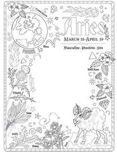 Magic Herbs Coloring Page   Coloring Book of Shadows