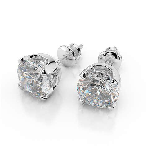 Ohrringe Diamant by 1 Carat Stud Earrings Cut D Vs2 14k White Gold