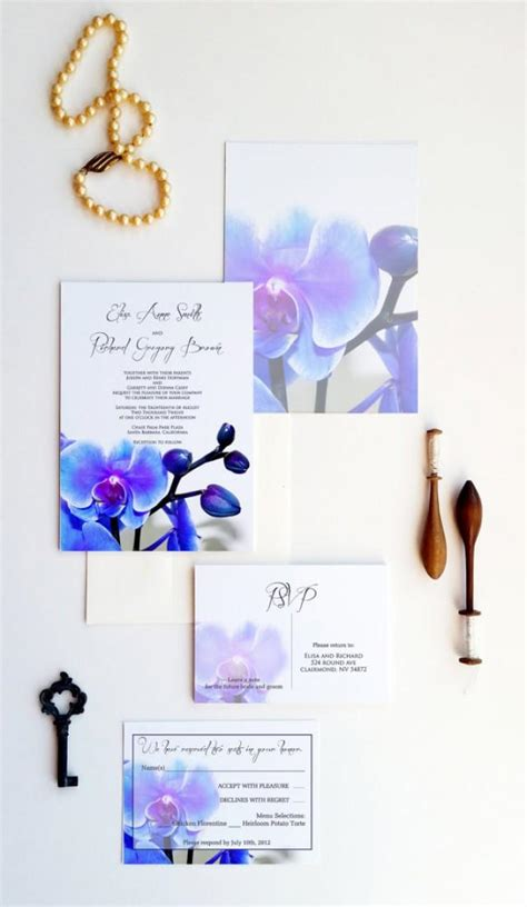 Orchid Theme Wedding Invitations by Blue Orchid Wedding Invitations Dendrobium Orchid Wedding