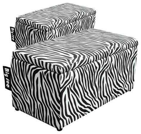 comfort research big joe 2 in 1 bench ottoman in zebra