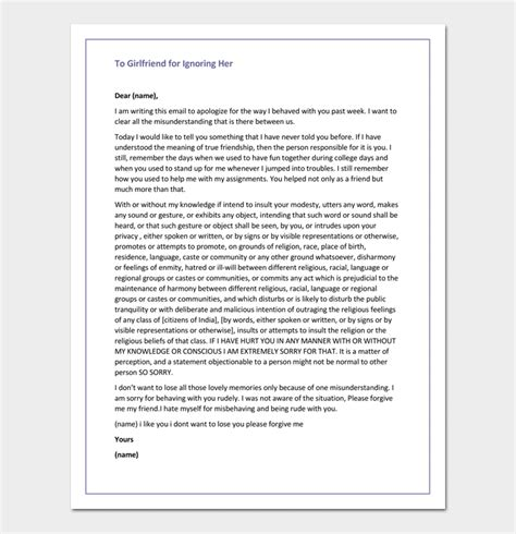 Apology Letter To For Hurting lovely apology letter to for lying how to format a cover letter