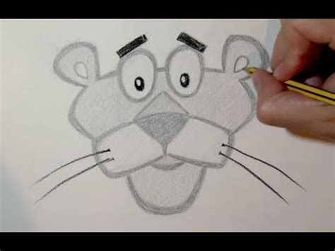 imagenes 3d a lapiz faciles c 243 mo dibujar a la pantera rosa paso a paso a l 225 piz youtube