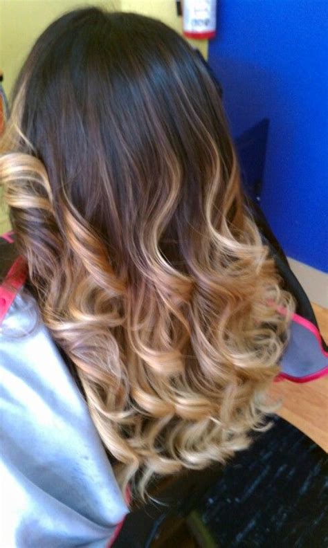 pictures of brown to blonde ombres brown to blonde ombre make up hair nails pinterest
