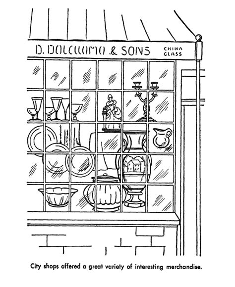 coloring book store usa printables early american society coloring pages