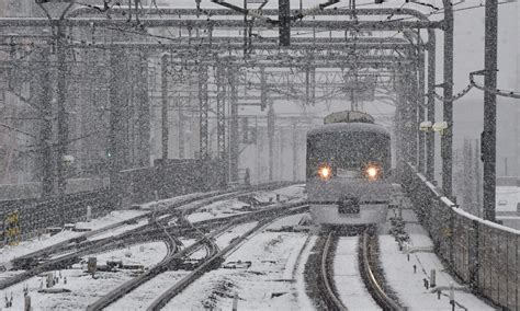 november tokyo tokyo sees first november snow in more than 50 years video