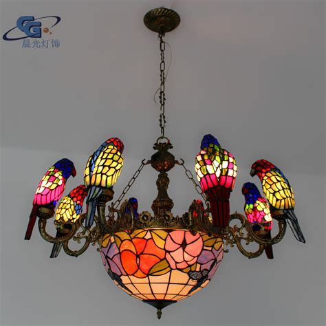European Lighting European Lighting Fixtures Chandelier 8 Parrots