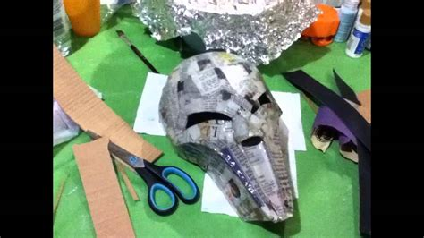 How To Make Your Own Paper Mache - how to make your own sith acolyte mask part 1 paper mache