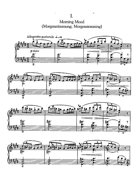 Peer Gynt Suite No. 1 1. Morning Mood (piano solo