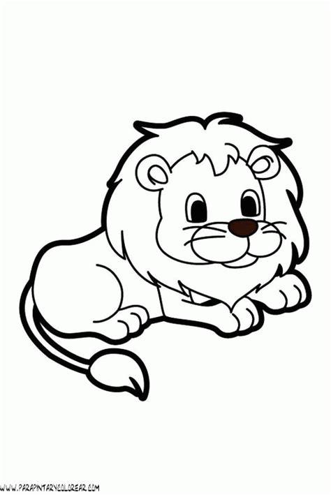 imagenes de leones sin color dibujos de leones 01