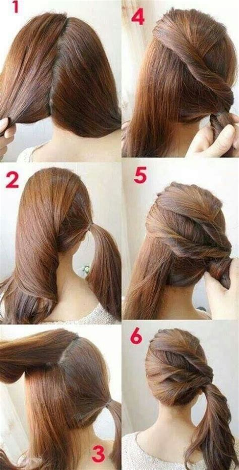 Easy Hairstyles Step By Step With Pictures | 7 easy step by step hair tutorials for beginners pretty