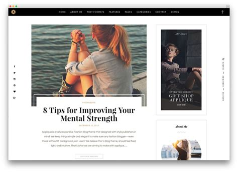 layout fashion blog 43 best fashion blog magazine wordpress themes 2018
