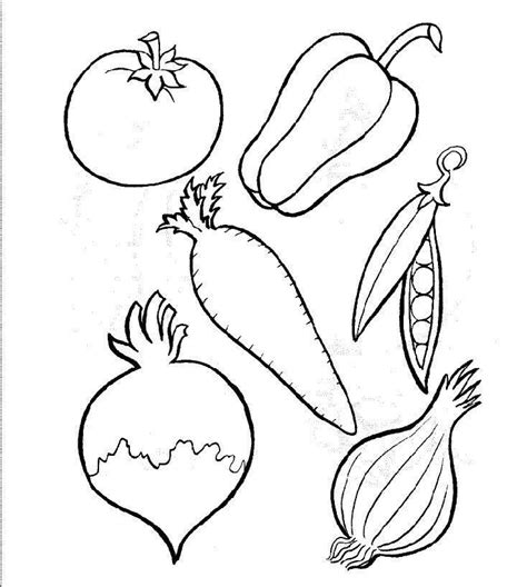 Free Coloring Pages Of Fruit And Vegetables Fruits And Vegetables Coloring Page