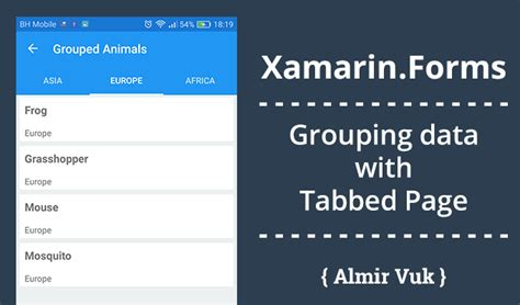 Xamarin Forms Html | xamarin forms grouping data with tabbed page almir vuk