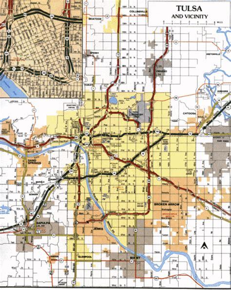 tulsa usa map tulsa oklahoma tourist map tulsa ok mappery