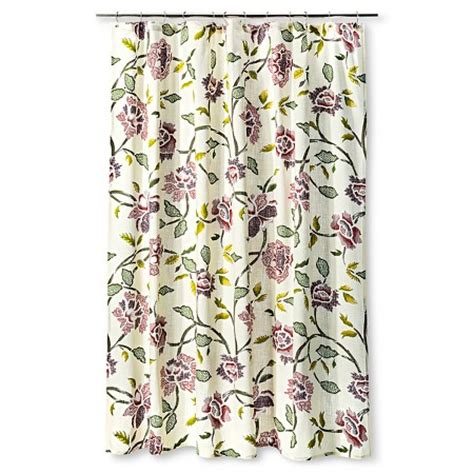 floral shower curtain target shower curtain floral multicolored threshold target
