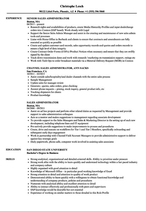 administrative resume sles 100 salesforce administrator resume exles popular