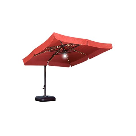 Lights For Patio Umbrella Patio Umbrella 10 Ft Square Cantilever With Light Krt Concepts Patio Furniture