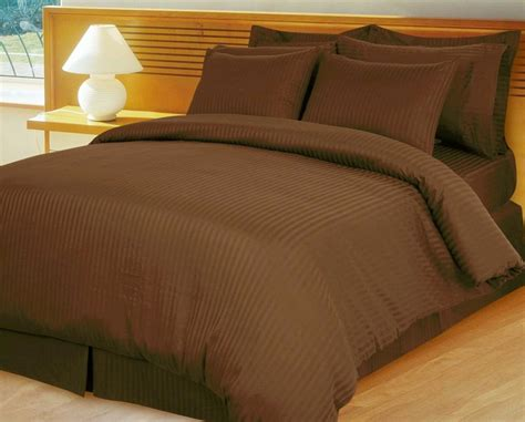 home opulent decor brown damask stripe comforter