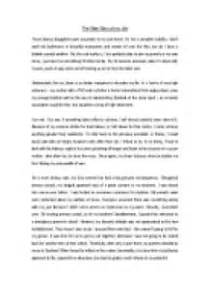 Childhood Story Essay by Story Essay