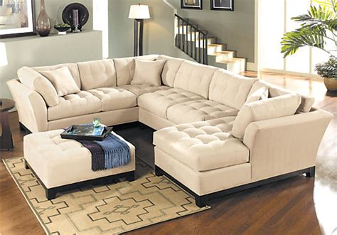 cindy crawford sectional sofa the 148 inch wide cindy crawford metropolis cardinal 3pc
