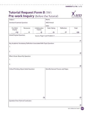 avid trf form fill online, printable, fillable, blank