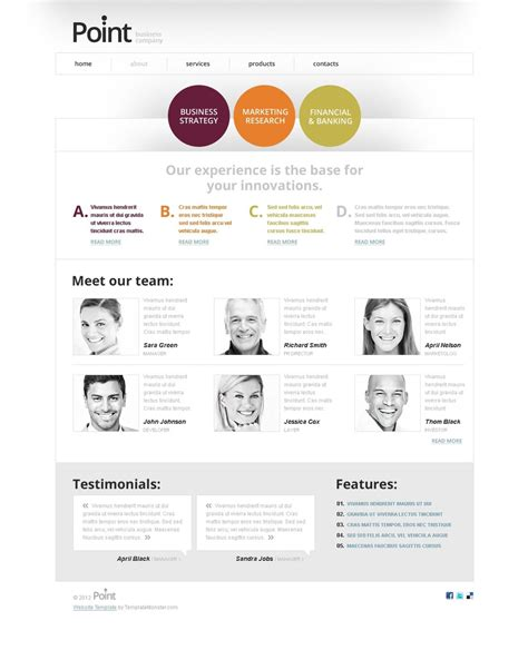 html5 business templates free html5 template for business website
