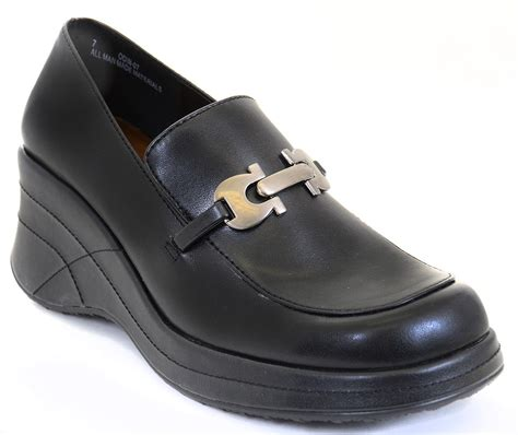loafer work shoes funky wedge chain black slip on loafer work shoes ebay