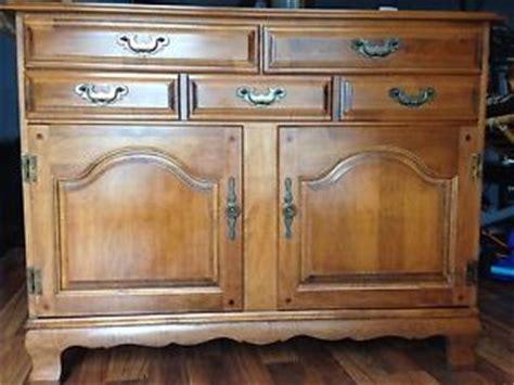 hale vintage solid rock maple cabinet server buffet