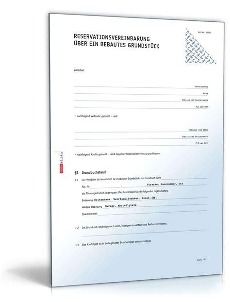 Angebot Muster Unterhaltsreinigung vorvertrag zum grundst 252 ckskaufvertrag muster vorlage zum