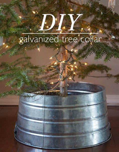 slim christmas tree in galvanized bucket diy galvanized tree collar dandee seasons trees and buckets