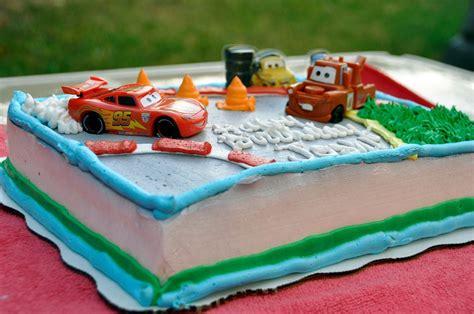 pixar cars themed custom cake