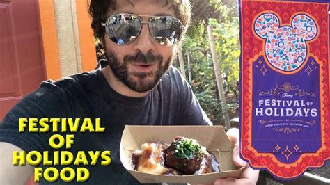 festival of holidays food disneyland california adventure