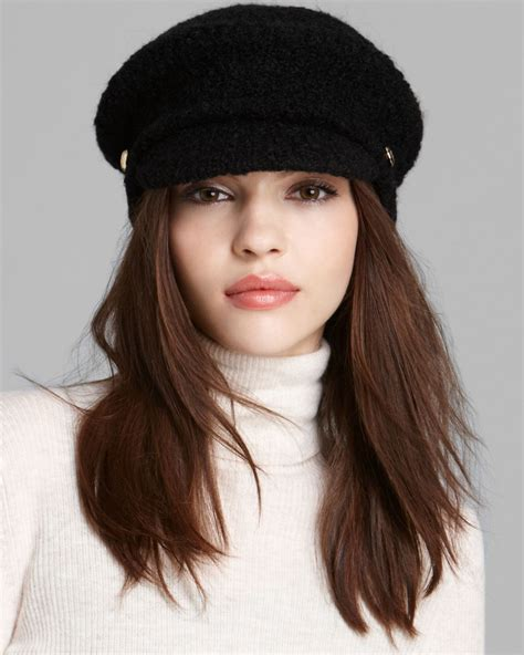 by ralph boucle fisherman hat in black