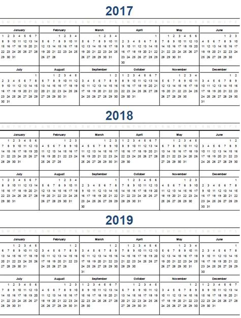 printable year calendar 2017 and 2018 printable calendar 2017 171 home life weekly