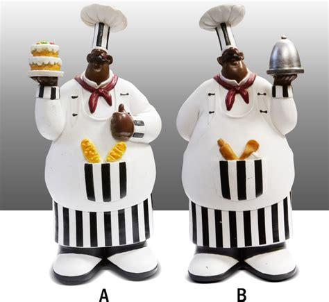black chef kitchen statue figure table art decor complete