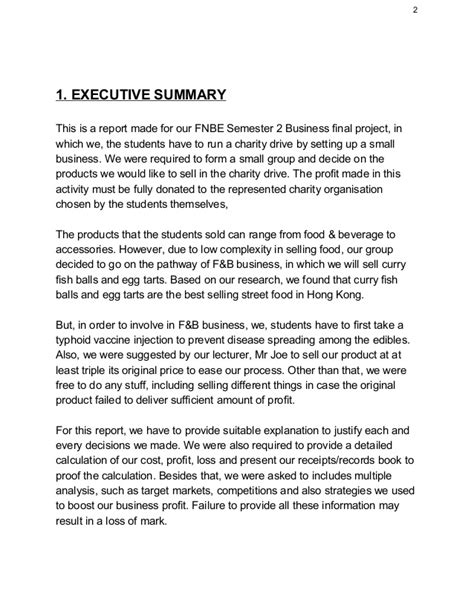 sle of an executive summary for a report sle executive summary of a report 28 images sle