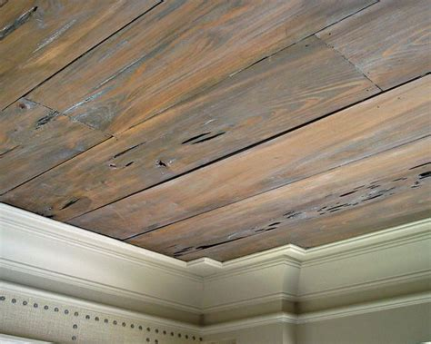 stained wood panels pecky cypress ceiling paneling stained gray wax topcoat