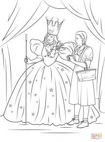 wizard of oz coloring pages dorothy with glinda the witch of the coloring