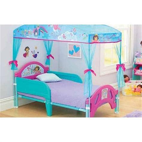 dora toddler bed dora the explorer delta canopy toddler bed on sale