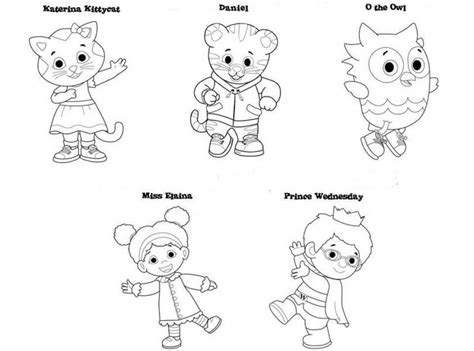 coloring pages daniel the tiger free coloring pages daniel tiger murderthestout tiger