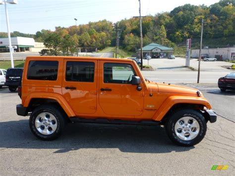 orange jeep wrangler unlimited 2013 crush orange jeep wrangler unlimited 4x4