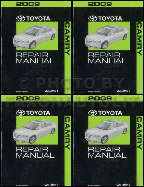 service manual buy car manuals 2009 toyota camry windshield wipe control toyota camry 2009 toyota camry repair shop manual original 4 vol set