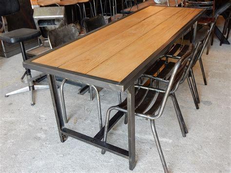 table salle a manger bois et fer salle a manger bois et metal lertloy