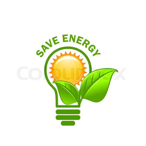 Safe Energy save energy symbol of alternative power sources for green