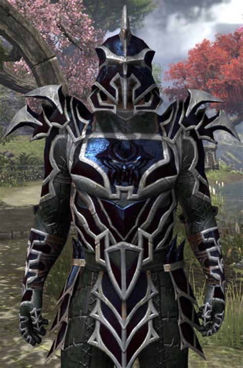 ebony light armor eso elder scrolls online styled daedric armor skyrim mod