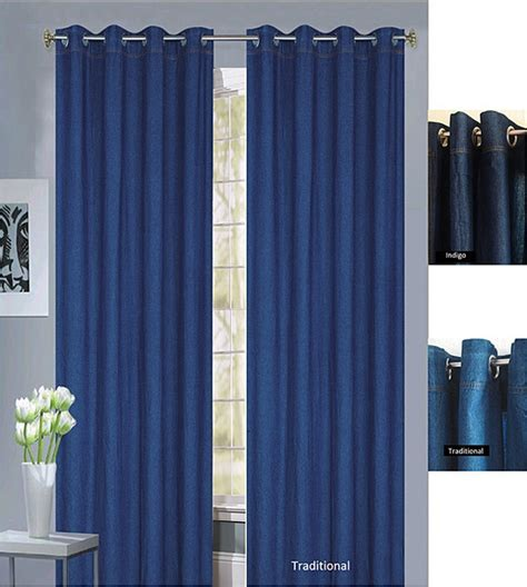 denim drapes capri denim grommet top 96 inch curtain panel pair