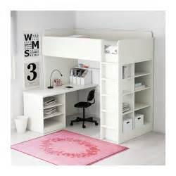 hochbett mit schreibtisch ikea stuva loft bed combo w 2 shlvs 3 shlvs white 207x99x193 cm