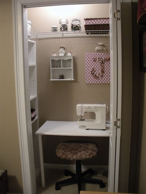 Closet Sewing Room by Tiny Closet Sewing Room It Projects