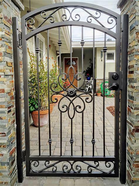 yards small single wrought iron gate wrought iron